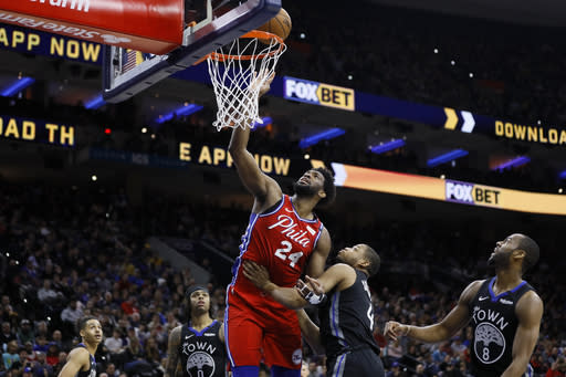 Korkmaz, Simmons lead 76ers past Grizzlies 119-107