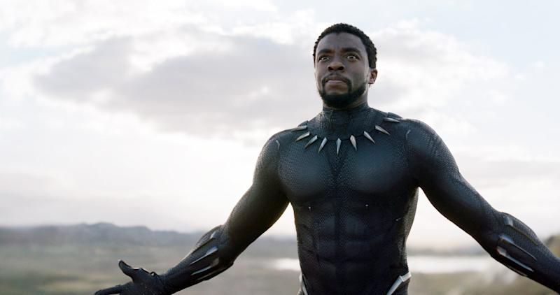 BLACK PANTHER, Chadwick Boseman, 2018. Marvel / Walt Disney Studios Motion Pictures /Courtesy Everett Collection