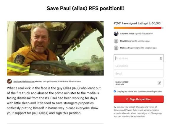 This petition including false information has since been pulled down.