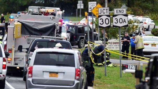 PHOTO: The scene of a deadly limousine crash in Schoharie, N.Y., Oct. 6, 20 (Peter R. Barber/The Daily Gazette of Schenectady, N.Y.)