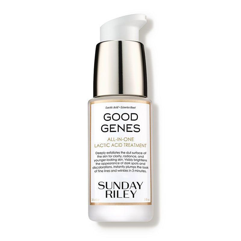 """<p><strong>Sunday Riley</strong></p><p>dermstore.com</p><p><a href=""""https://go.redirectingat.com?id=74968X1596630&url=https%3A%2F%2Fwww.dermstore.com%2Fproduct_GOOD%2BGENES%2BAllInOne%2BLactic%2BAcid%2BTreatment_40133.htm&sref=https%3A%2F%2Fwww.marieclaire.com%2Fbeauty%2Fg35685017%2Fdermstore-beauty-refresh-sale%2F"""" rel=""""nofollow noopener"""" target=""""_blank"""" data-ylk=""""slk:Shop Now"""" class=""""link rapid-noclick-resp"""">Shop Now</a></p><p><strong><del>$85</del> $68 (20% off)</strong></p><p>Dermstore reviewers are obsessed with Sunday Riley's Good Genes anti-aging lactic acid treatment, giving it an average of 5/5 stars. With ingredients like aloe, lemongrass and licorice (yes, licorice), this <a href=""""https://www.harpersbazaar.com/beauty/skin-care/g19738338/best-skin-care-brands/"""" rel=""""nofollow noopener"""" target=""""_blank"""" data-ylk=""""slk:Sunday Riley"""" class=""""link rapid-noclick-resp"""">Sunday Riley</a> best seller can be used to both even out your complexion and reduce the appearance of fine lines and wrinkles as well. </p>"""