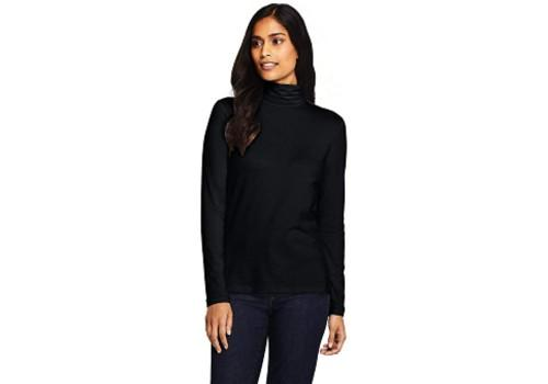 Lands' End Women's Lightweight Fitted Long Sleeve Turtleneck. (Photo: Amazon)