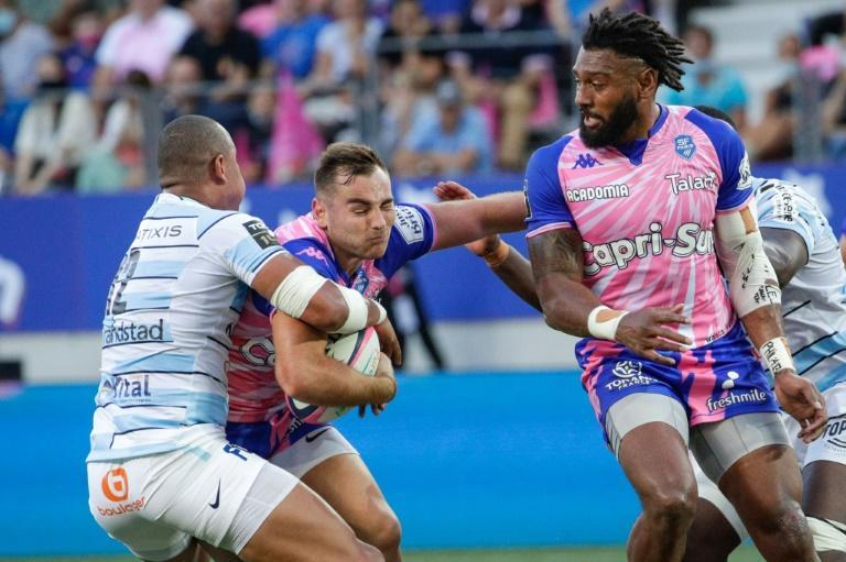 Gael Fickou (L) started against his former club Stade Francais for Racing 92 (AFP/GEOFFROY VAN DER HASSELT)