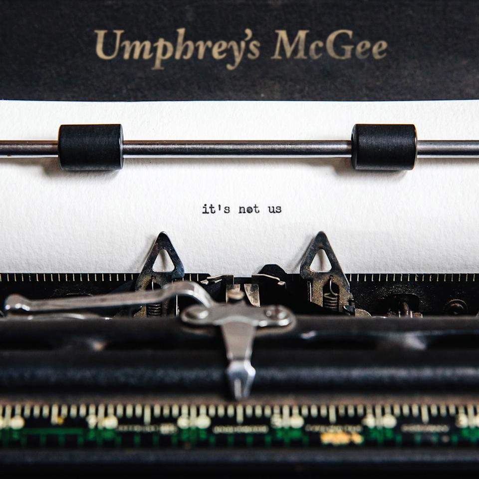 """This cover image released by Nothing Too Fancy Music shows, """"It's Not Us,"""" a release by Umphrey's McGee. (Nothing Too Fancy Music via AP)"""