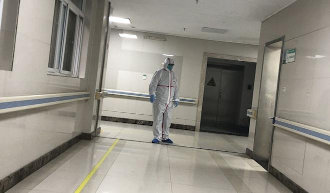 A doctor in full protective gear at the Wuhan Medical Treatment Centre in Wuhan, which has recorded dozens of cases of unexplained pneumonia-like symptoms. Photo: Simon Song