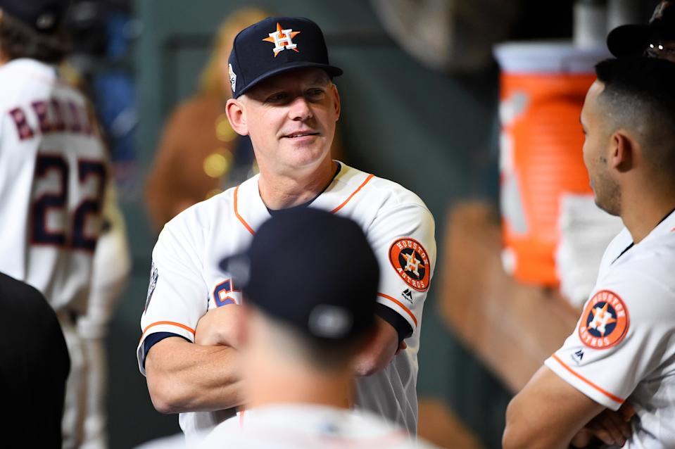 Punishments could be coming soon to A.J. Hinch and the Astros in the sign-stealing scandal. (Photo by Cooper Neill/MLB Photos via Getty Images)