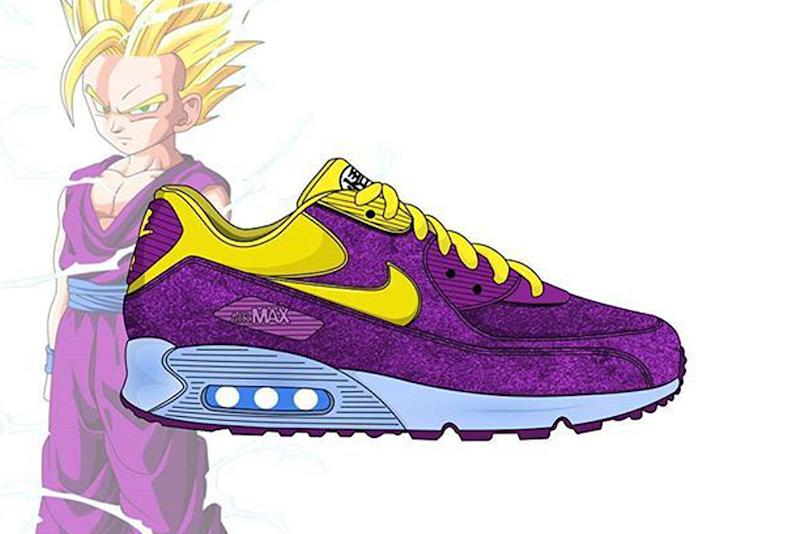 10efbf71aa3 See What the 'Dragon Ball Z' Sneakers Would Look Like With Nike ...