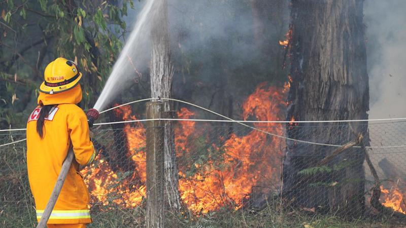 Firefighters have been battling small bushfires in Melbourne suburbs amid strong, hot winds.