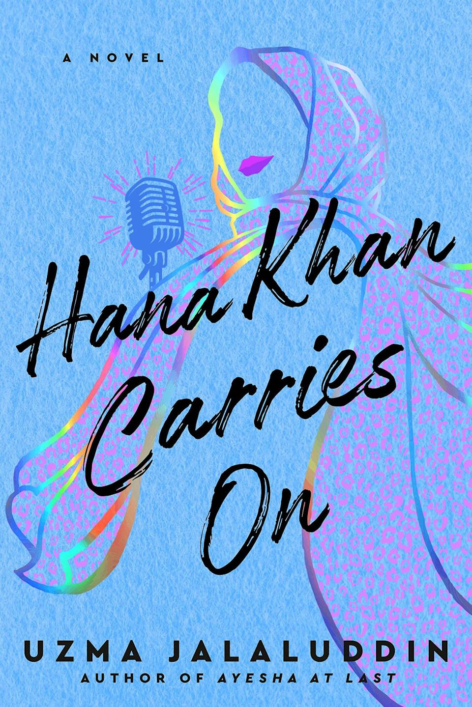 <p>There's a dash of <strong>You've Got Mail</strong> sprinkled into Uzma Jalaluddin's lovely <span><strong>Hana Khan Carries On</strong></span>. Hana works at Three Sisters Biryani Poutine, the only halal restaurant in her neighborhood, but she dreams of a job working at the local radio station. For now she's content with her podcast, at least she is until another halal restaurant opens across the street with an attractive owner who she just can't seem to avoid. Now Hana will have to use her platform to save the restaurant where she works, while also fighting off those pesky feelings for the competition. </p> <p><em>Out April 6</em></p>