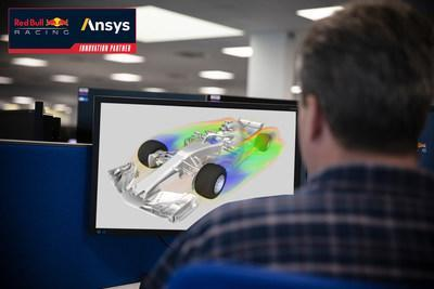 Red Bull Racing engineers use Ansys to optimize aerodynamic simulations.