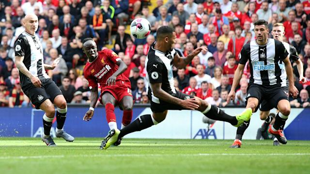 Sadio Mane and Mohamed Salah showed no lingering issues from their public spat as Liverpool swatted aside Newcastle United at Anfield.