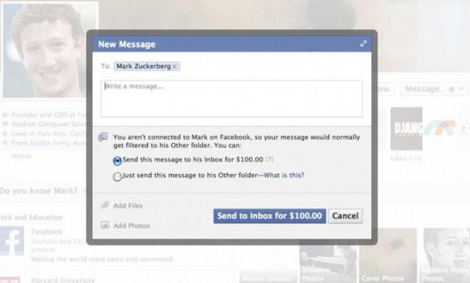Looking to chat up Mark Zuckerberg? It'll cost ya.