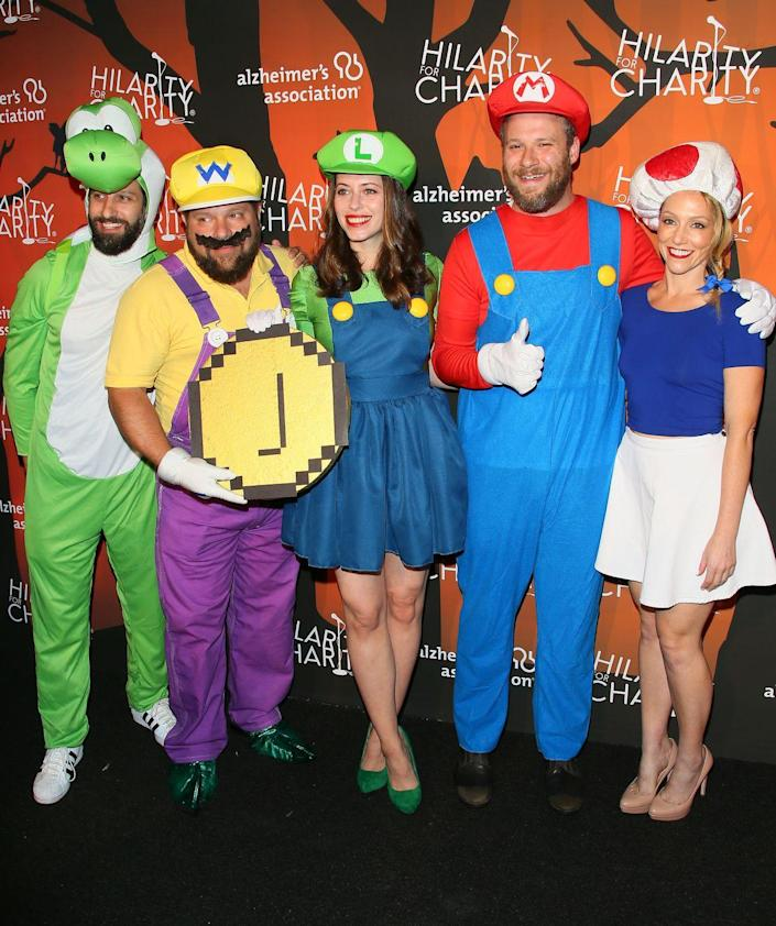 """<p>Nintendo fans will certainly appreciate these Super Mario-themed costumes, which include Wario, Luigi, Mario, and Toad.</p><p><a class=""""link rapid-noclick-resp"""" href=""""https://www.amazon.com/Disguise-Mens-Mushroom-Costume-Accessory/dp/B00T43O5WI?tag=syn-yahoo-20&ascsubtag=%5Bartid%7C10070.g.3083%5Bsrc%7Cyahoo-us"""" rel=""""nofollow noopener"""" target=""""_blank"""" data-ylk=""""slk:SHOP MUSHROOM HAT"""">SHOP MUSHROOM HAT </a></p>"""