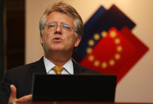 European Chamber of Commerce in China president Joerg Wuttke. Photo: EPA