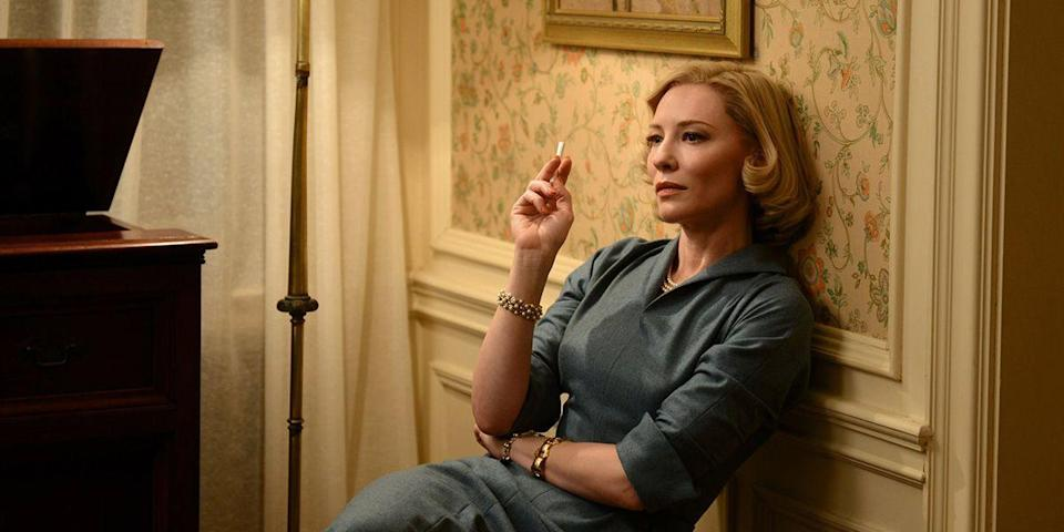 "<p>Cate Blanchett and Rooney Mara bring Patricia Highsmith's 1952 novel, <em><a href=""https://www.amazon.com/Price-Salt-Patricia-Highsmith/dp/1469971879?tag=syn-yahoo-20&ascsubtag=%5Bartid%7C10056.g.6498%5Bsrc%7Cyahoo-us"" rel=""nofollow noopener"" target=""_blank"" data-ylk=""slk:The Price of Salt"" class=""link rapid-noclick-resp"">The Price of Salt</a></em>, to gorgeous life as Carol, a woman confined in a loveless marriage, and Therese, the department store clerk who sets her free. Passion, forbidden romance, heartbreaking odds—the stage is set in this Todd Haynes gem. <a class=""link rapid-noclick-resp"" href=""https://www.amazon.com/dp/B01A9RCOYI?tag=syn-yahoo-20&ascsubtag=%5Bartid%7C10056.g.6498%5Bsrc%7Cyahoo-us"" rel=""nofollow noopener"" target=""_blank"" data-ylk=""slk:Watch Now"">Watch Now</a><br></p>"