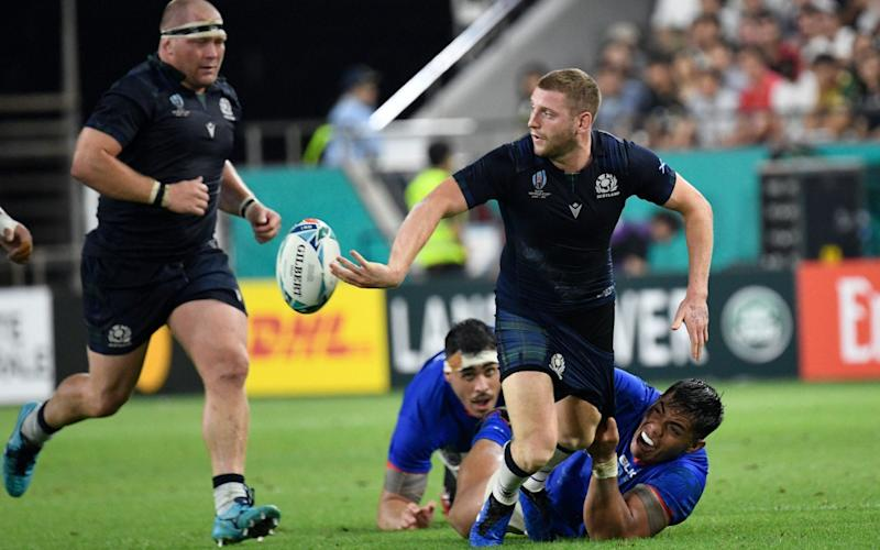 Scotland coach Gregor Townsend has chosen to rest fly-half Finn Russell ahead of Sunday's crunch match with Japan - AFP