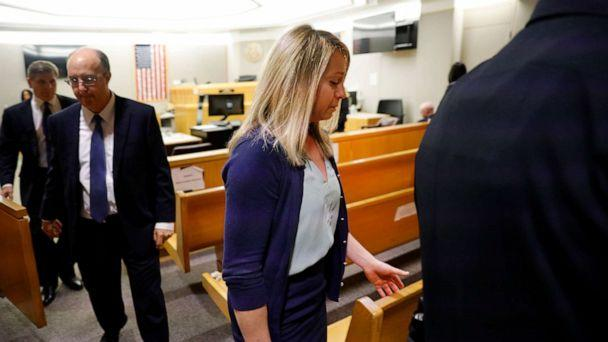 PHOTO: Fired Dallas police officer Amber Guyger leaves the courtroom after a jury found her guilty of murder, Oct. 1, 2019, in Dallas. (Tom Fox/The Dallas Morning News via AP, Pool)