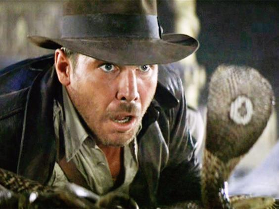 Harrison Ford as Indiana Jones, coming face to face with a Cobra in 1981's 'Raiders of the Lost Ark' (Paramount Pictures)
