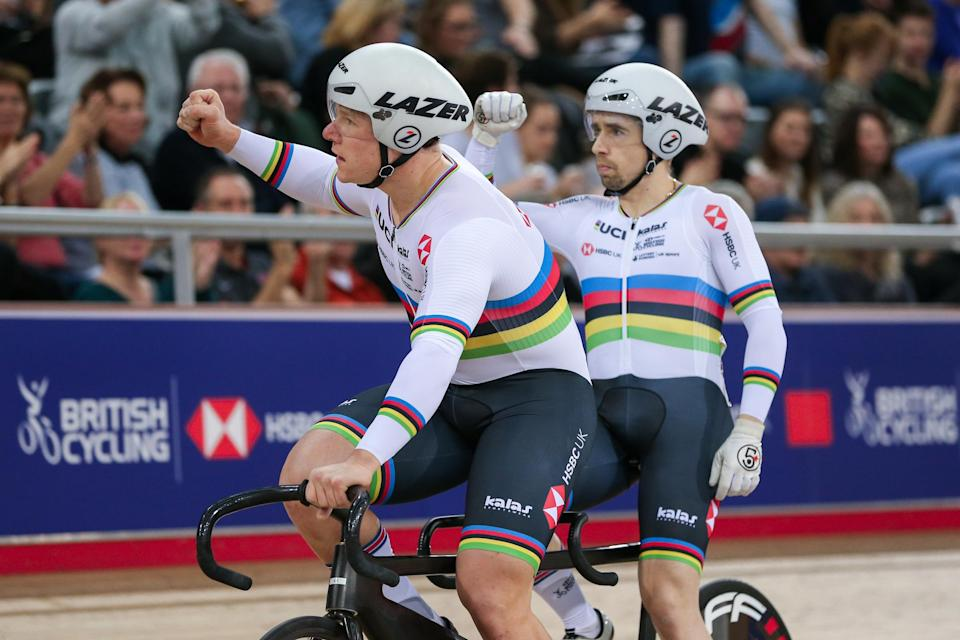 Fachie returned to the UCI Track Cycling World Cup after a six-year absence