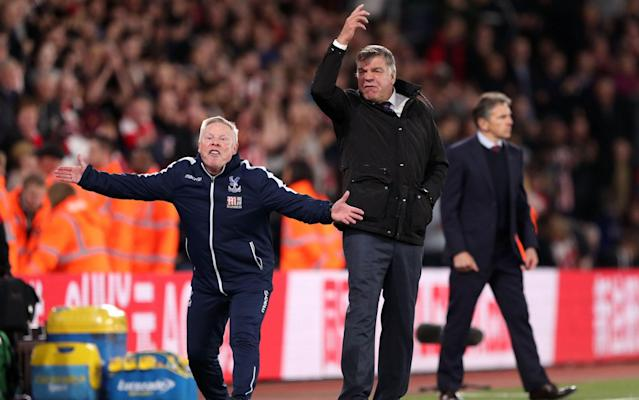 The two Sams weren't happy on the touchline - PA