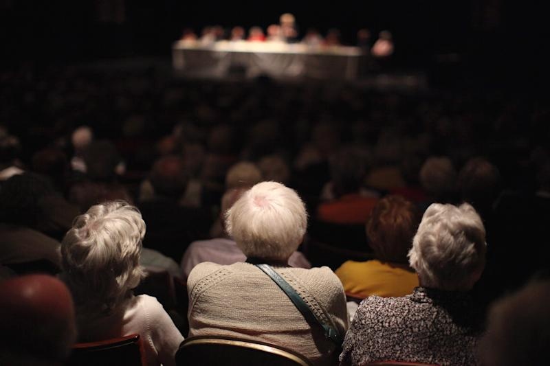 Pensioners Take Part In The National Pensioners Convention