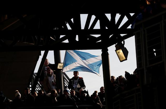 Rugby Union - Six Nations Championship - Scotland vs England - BT Murrayfield Stadium, Edinburgh, Britain - February 24, 2018 Scotland fans before the match REUTERS/Russell Cheyne