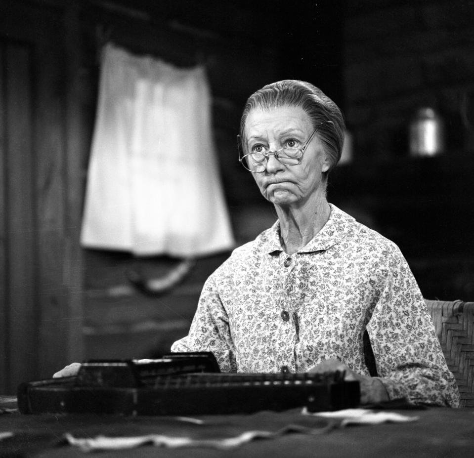 Sharon Osbourne thought silver hair made her look like The Beverly Hillbillies' Granny, as portrayed by Irene Ryan above. (Photo by CBS via Getty Images)