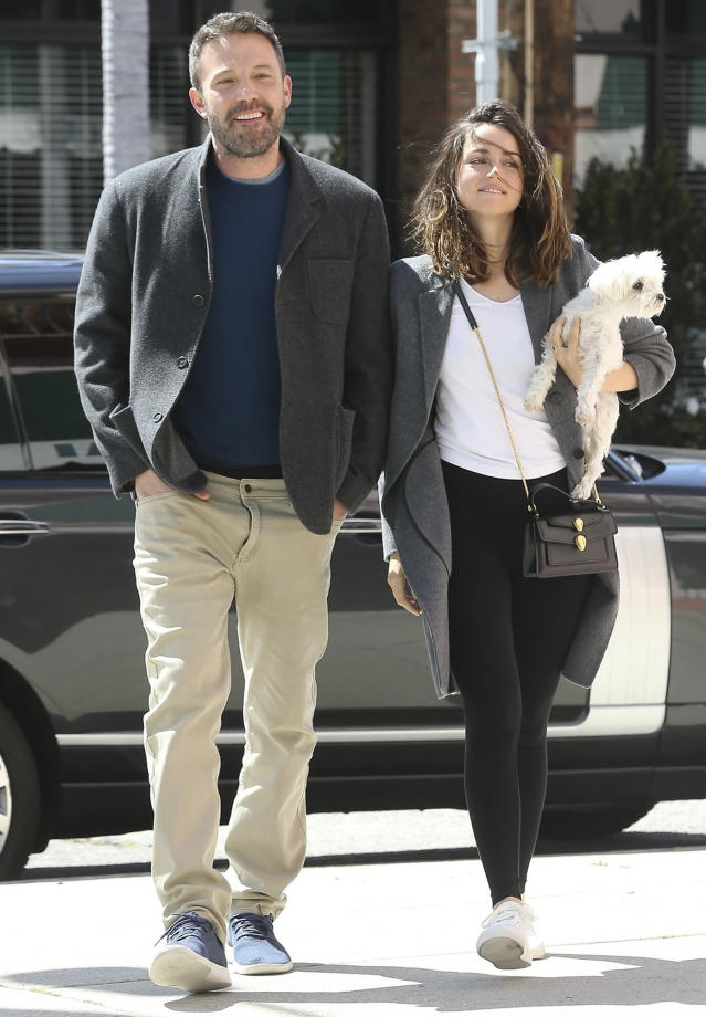 <p>Ben Affleck and Ana de Armas keep smiling on Wednesday while out in Los Angeles. </p>