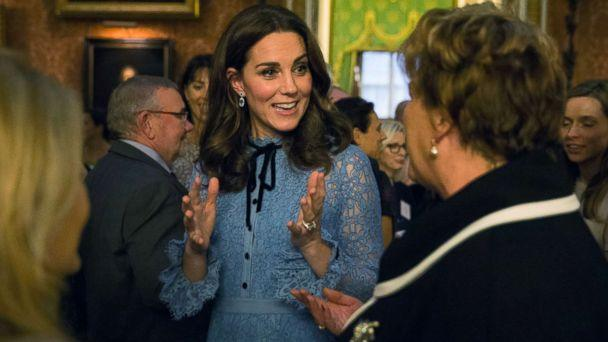 PHOTO: Britain's Kate, the Duchess of Cambridge attend a reception at Buckingham Palace, London, to celebrate World Mental Health Day, Oct. 10, 2017. (Heathcliff O'Malley/pool via AP)
