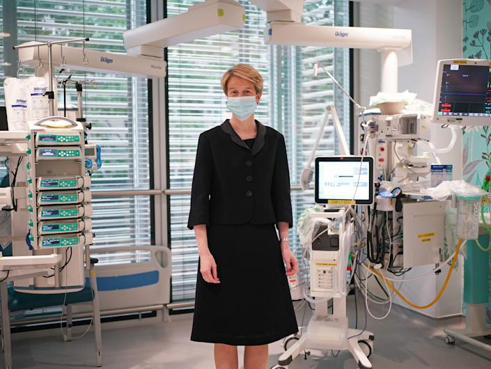 Amanda Pritchard during a visit to University College Hospital London, following the announcement of her appointment as the new chief executive of the NHS in England. (PA)