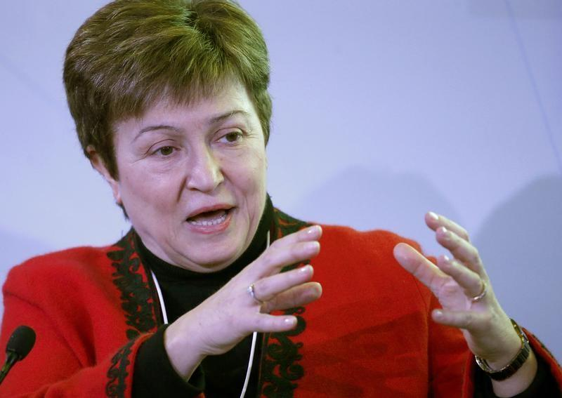Georgieva CEO of the World Bank attends the WEF annual meeting in Davos
