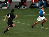 Dominici's try in the 1999 Rugby World Cup semi-final win over New Zealand is one of the tournament's best remembered