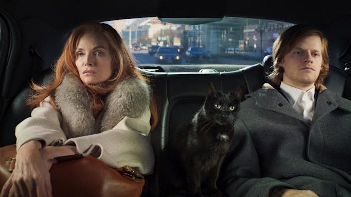 """Michelle Pfeiffer and Lucas Hedges in the movie """"French Exit."""""""