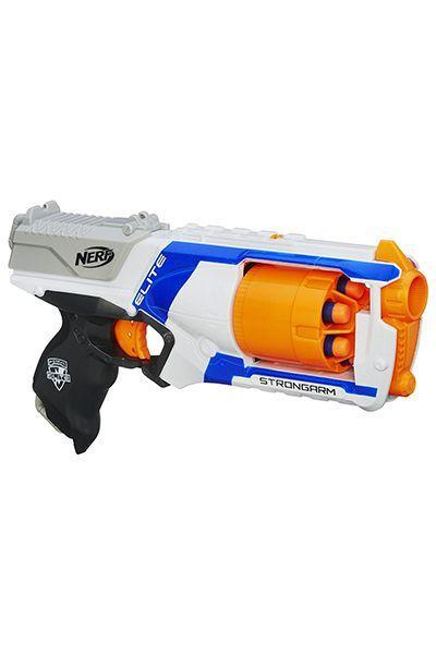 """<p>$13</p><p><a rel=""""nofollow noopener"""" href=""""https://www.amazon.com/Nerf-N-Strike-Elite-Strongarm-Blaster/dp/B00DW1JT5G/ref=pd_ybh_a_27"""" target=""""_blank"""" data-ylk=""""slk:SHOP NOW"""" class=""""link rapid-noclick-resp"""">SHOP NOW</a></p><p>Whoever receives this Nerf gun will be the undisputed winner of any battle they enter thanks to its fast-firing and quick-loading ways.</p>"""