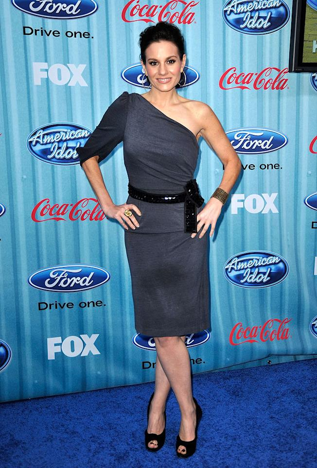 """Judge <a href=""""/kara-dioguardi/contributor/1256471"""">Kara DioGuardi</a> arrives at the <a href=""""/american-idol/show/34934"""">""""American Idol""""</a> Top 13 Party held at AREA nightclub on March 5, 2009 in Los Angeles, California."""