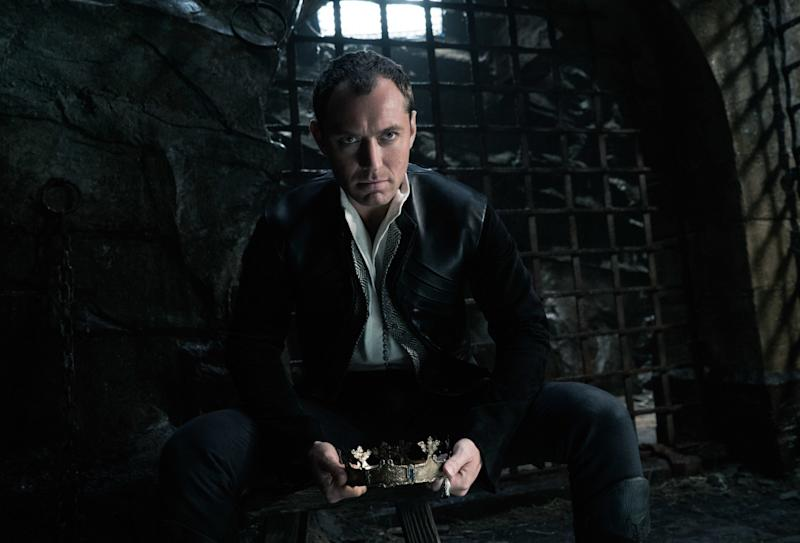 Jude Law in the upcoming 'King Arthur: Legend of the Sword' (credit: Warner Bros)
