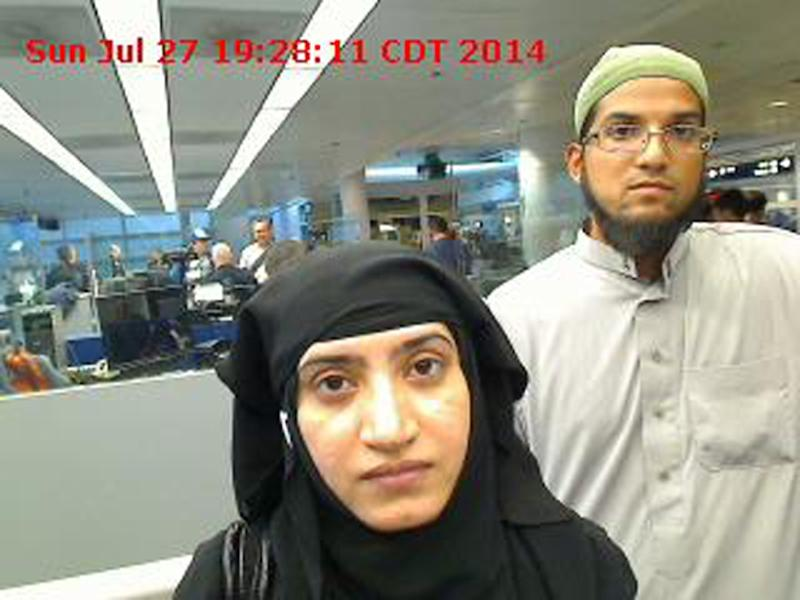Syed Farook and Tashfeen Malik died in a shootout with police following the December 2 assault in San Bernardino, California (AFP Photo/)