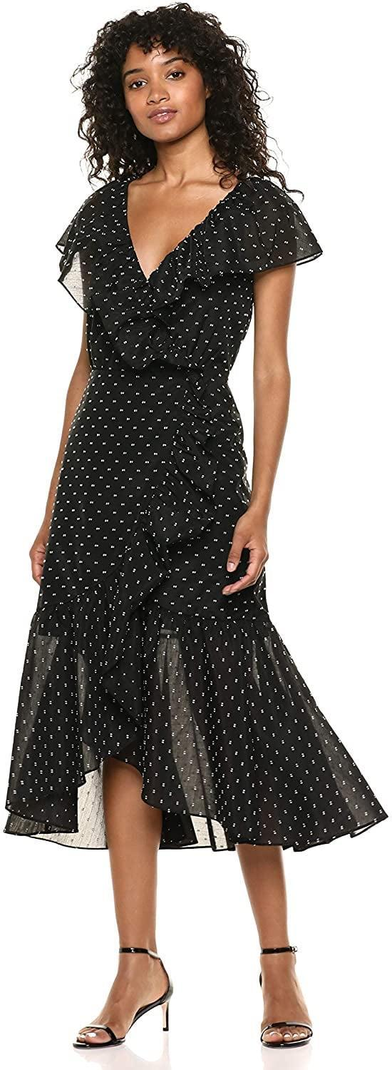 <p>The ruffle detail on this <span>Rebecca Taylor Short Sleeve Birdseye Dot Dress</span> ($184-$225) is so chic.</p>