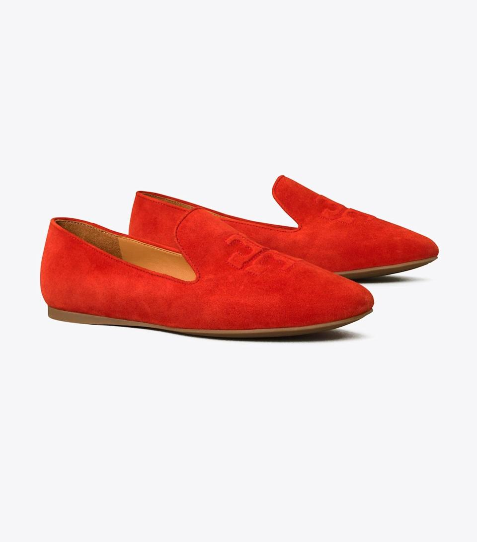 <p>These <span>Tory Burch Ruby Smoking Slippers</span> ($198) are the updated ruby red slippers of our dreams.</p>