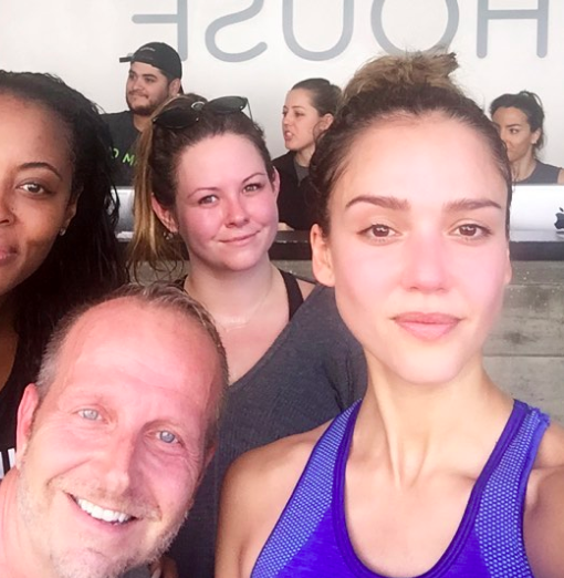 """<p>Jessica's trainer Ramona Braganza's best advice for her clients, per <a href=""""https://www.instyle.com/celebrity/how-get-body-jessica-alba?slide=276772#276772"""" rel=""""nofollow noopener"""" target=""""_blank"""" data-ylk=""""slk:InStyle"""" class=""""link rapid-noclick-resp"""">InStyle</a>: 'If you don't feel the intensity then you're not pushing yourself. If you're on your own, use a heart rate monitor to make sure you're training in the zone.'</p>"""
