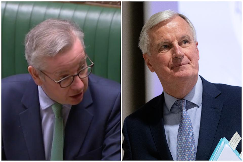Michael Gove hit back following Michel Barnier's criticism of the UK. (Parliamentlive.tv/Getty Images)
