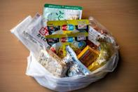 A food pack put together by the Moyai Support Centre for Independent Living