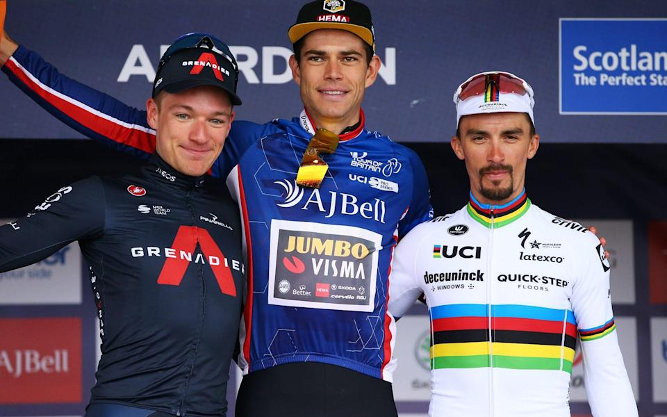 Ethan Hayter, Wout van Aert and Julian Alaphilippe - - GETTY IMAGES