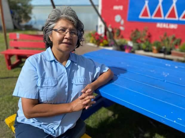 Jane Weyallon Armstrong, MLA-elect for the N.W.T.'s Monfwi riding, admits that along the campaign trail, in which she competed against three men, 'A lot of people said … that we need a woman there.' (Chantal Dubuc/CBC - image credit)