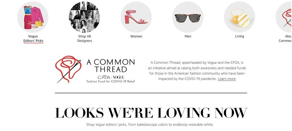 The Cfda And Vogue Have Announced A Shop With Amazon Fashion