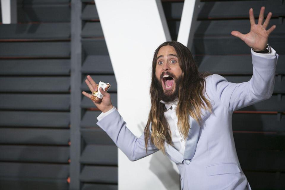 <p>Leto lost weight for <em>Dallas Buyers Club</em> like his castmate McConaughey, but he also put on weight for <em>Chapter 27</em>, where he played John Lennon's killer. </p>