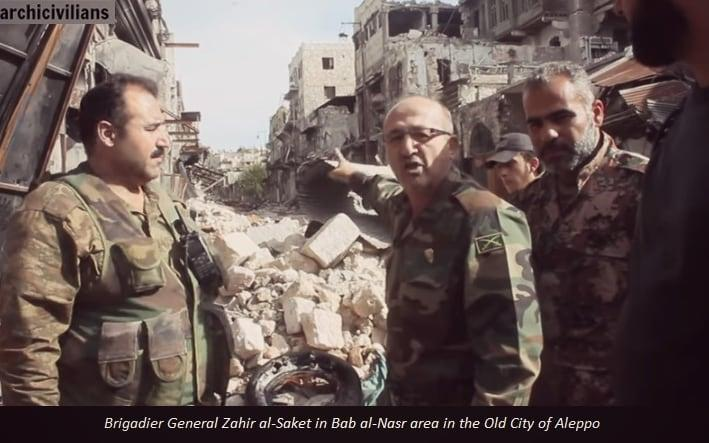 Brig Gen Zaher al-Sakat after he defected and joined the opposition Free Syrian Army - Credit: Archcivilians