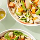 <p>This easy salad recipe allows for a wonderful use of leftover cooked chicken. Look for escarole in the produce section near the leafy greens; if you can't find it, you can use romaine instead.</p>