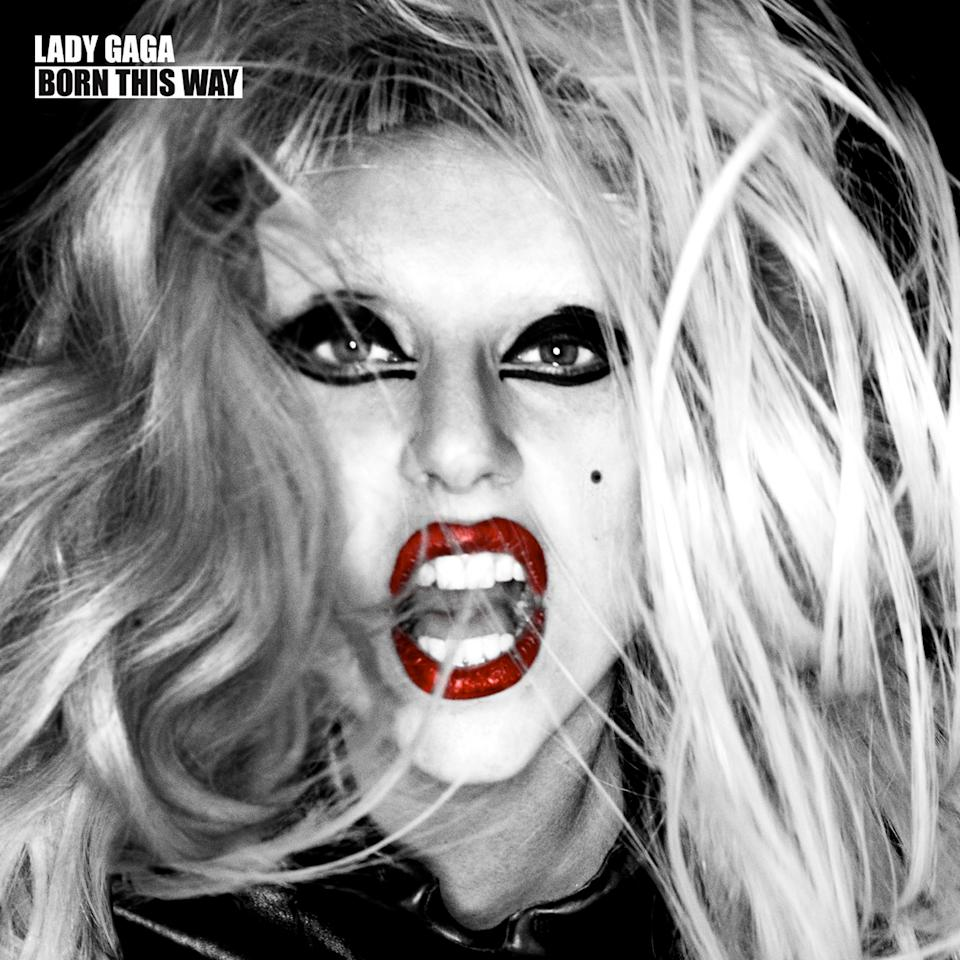 """Lady Gaga - Born This Way (2011)<br><br>The second of the pop diva's albums, the special edition album cover featured a close-up of the artist's head from the standard edition. The single """"Born This Way"""" became the fastest selling song in iTunes history."""