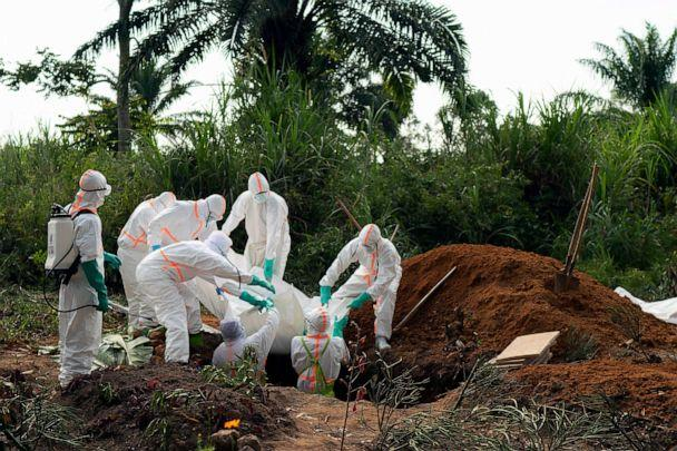 PHOTO: An Ebola victim is buried at a cemetery in Beni, Democratic Republic of Congo, July 14, 2019. (Jerome Delay/AP)